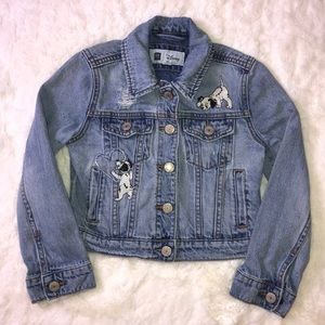 Girls gap Disney Dalmatians denim jacket